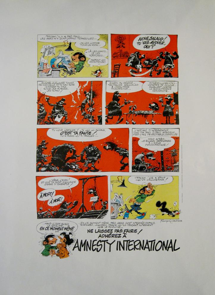 andr franquin gaston lagaffe amnesty international amazonie bd librairie bd paris. Black Bedroom Furniture Sets. Home Design Ideas