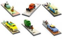 Hergé Moulinsart - 6 x Voitures Moulinsart - Tintin Transports - Amazonie BD