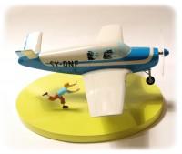 Hergé Tintin - Maquette avion Beechcraft Bonanza A35 - L'Affaire Tournesol - Amazonie BD