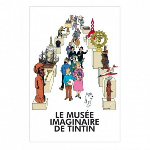 Hergé Moulinsart - Affiche Le Musée imaginaire de Tintin - Amazonie BD