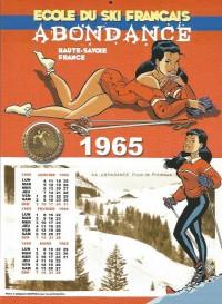 """Félix Meynet - ex libris Fanfoué """"Ecole de ski français"""" - Amazonie BD"""