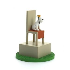 Hergé Moulinsart - Scène plastique - Le roi Milou sur son trône - Amazonie BD