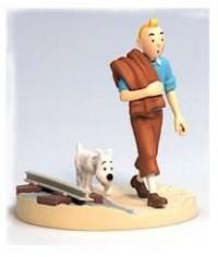 Hergé Moulinsart - Scène plastique - Tintin voie ferrée - Amazonie BD