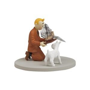 Hergé Moulinsart - Scène plastique - Tintin au marché aux puces - Amazonie BD