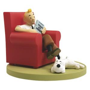 Hergé Amazonie BD - Scène plastique - Tintin at home - Amazonie BD