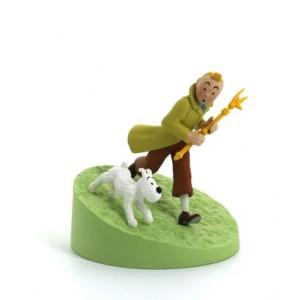 Hergé Moulinsart - Scène plastique - Tintin avec le Sceptre - Amazonie BD