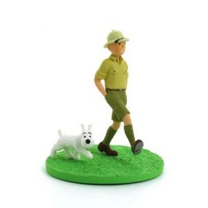 Hergé Moulinsart - Scène plastique - Tintin explorateur - Amazonie BD