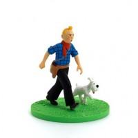 Hergé Moulinsart - Scène plastique - Tintin cow boy - Amazonie BD