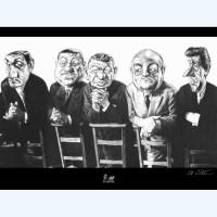 """C. Da Costa - Affiche Tontons flingueurs - """"A la messe""""  - Amazonie BD"""
