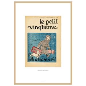 """Hergé Moulinsart - Lithographie """"le petit Vingtième"""" Tintin Le crabe aux pinces d'or - Amazonie BD"""