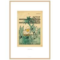 """Hergé Moulinsart - Lithographie """"le petit Vingtième"""" Tintin au Congo - Amazonie BD"""