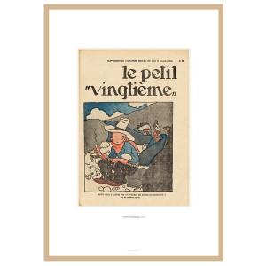 """Hergé Moulinsart - Lithographie """"le petit Vingtième"""" Tintin en Amérique - Amazonie BD"""