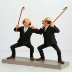 """Hergé Moulinsart - Statuette """"Dupont & Dupond"""" - Tintin les cigares du Pharaon - Amazonie BD"""