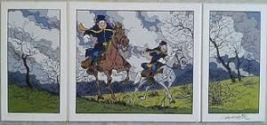 W. Lambil - Les tuniques bleues - Triptyque