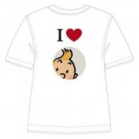Hergé Moulinsart - Tee Shirt I love Tintin - Amazonie BD