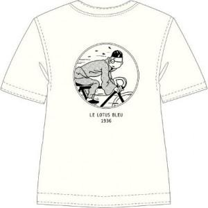Hergé Moulinsart - Tintin en vélo - Tee Shirt - Amazone BD