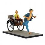 Hergé  Moulinsart - Tintin et Milou dans le pousse-pousse - Le Lotus bleu - Fariboles - Amazonie BD