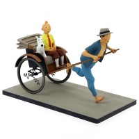 Hergé  Moulinsart - Tintin et Milou dans le pousse - pousse - Le Lotus bleu - Fariboles - Amazonie BD