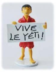 Hergé Moulinsart - Enfant Tibétain Vive Yéti - Figurine Carte de voeux 1972 série N°2 - Amazonie BD
