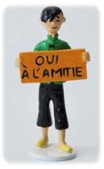 Hergé Moulinsart - Tchang oui à l'amitié - Figurine Carte de voeux 1972 série N°2 - Amazonie BD