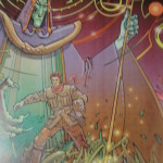 Moebius - Rare affiche - For the new adventures of the time machine Cryo 2000 - Amazonie BD