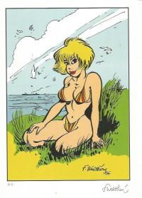 """F. Walthéry Natacha - Portfolio """"Erotique"""" - Amazonie BD"""