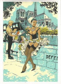 Félix Meynet - Double M - ex libris en sérigraphie - Amazonie BD