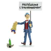 Hergé Moulinsart - Tintin - Carte de voeux 1972 - Set de figurines Série 7 - Amazonie BD