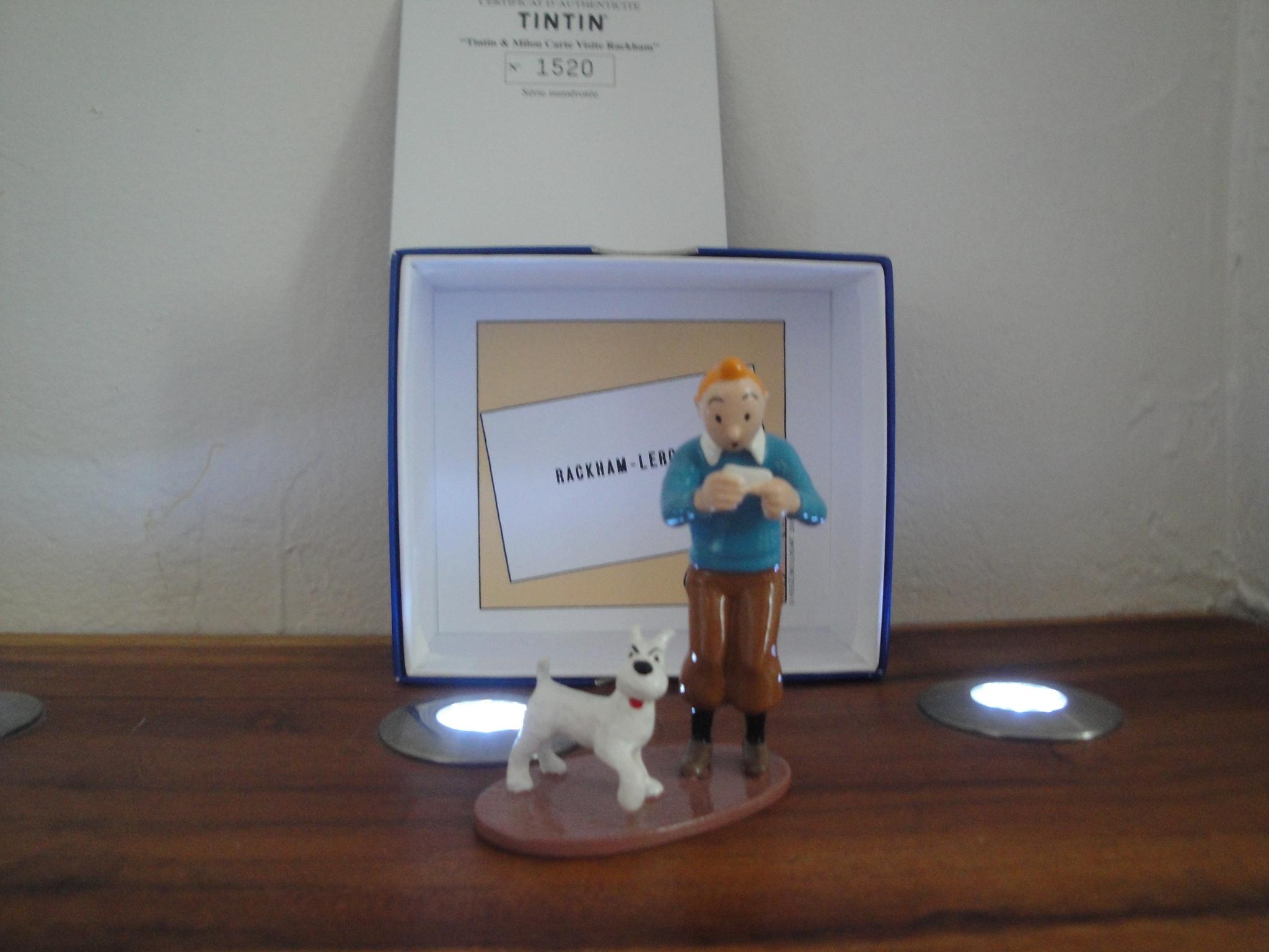 Tintin Herg Carte De Visite Le Trsor Rackham Rouge